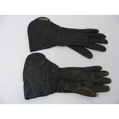 Vintage Ladies Brown Leather Gloves