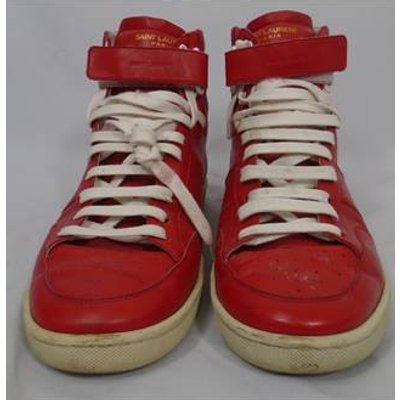 Men's Saint Laurent  SL/12H High Top Red Trainers Yves Saint Laurent - Size: 7 - Red - Lace-ups