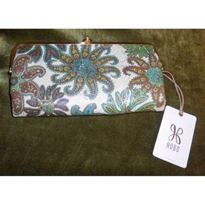 Hobo Bags Floral Design Bi Fold Purse / Wallet