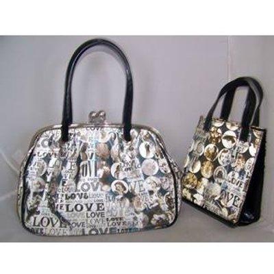 shin and company - Size: M - Grey  Holographic  Handbag