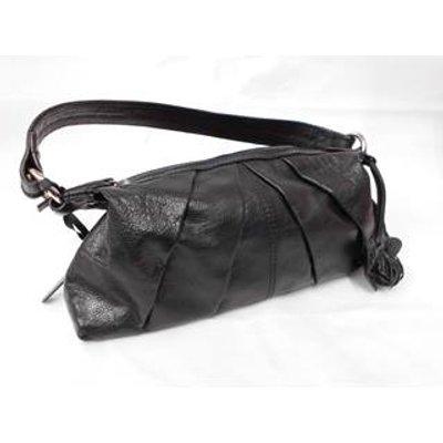 Debenhams - Black leather shoulder bag