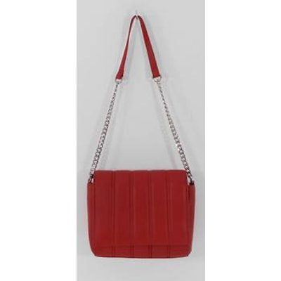 NWOT M&S Red Leather Shoulder Bag