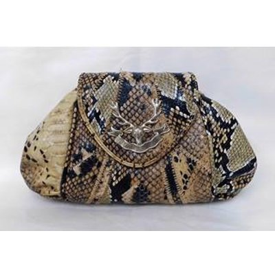 Small- Synthetic Snakeskin - Clutch bag