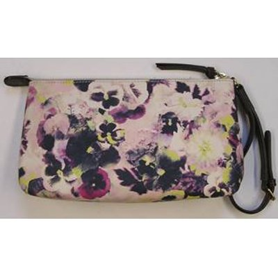 Paul Smith Leather Clutch Bag or Purse with Wristlet Strap - Multi-coloured