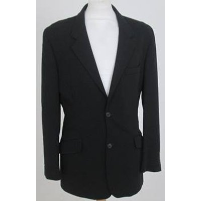 DKNY Size 40L Black Single Breasted Suit Jacket