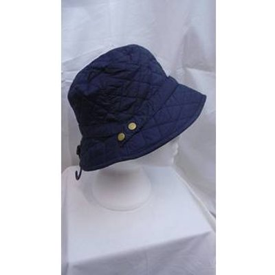 NWOT M&S NAVY QUILTED HAT SIZE S/M M&S Marks & Spencer - Size: S - Black - Beanie