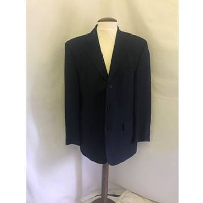 Feraud- Size 50 – navy blue check detail- two piece suit Feraud - Size: L - Blue - Single breasted
