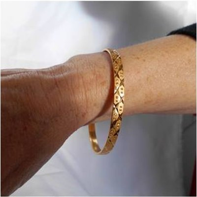 Gold Plated Bangle  no 5 Unbranded - Size: Small - Metallics.
