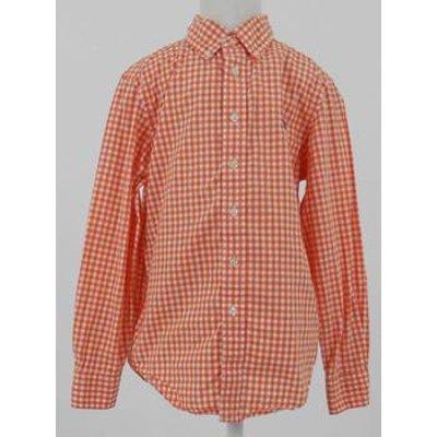 Ralph Lauren Size: 6 - 7 Years Orange Long Sleeved Check Shirt