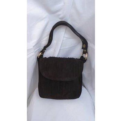 PRE-LOVED CHOCOLATE BROWN SUEDE JANE SHILTON HANDBAG Jane Shilton - Size: S - Brown - Grab bag