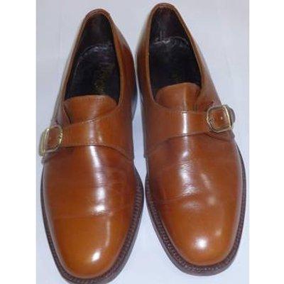 Al Paposh size 6 tan leather monk strap