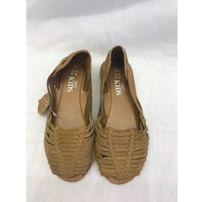 M&S leather peep toe shoes - Size: 13 - Brown