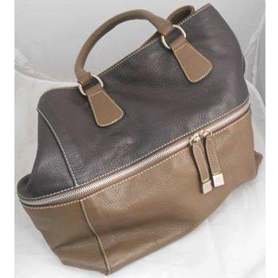 Brown Two-Tone MyChoice Handbag