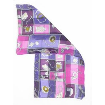 Unbranded One size Pink Purple Patterned Novelty Scarf