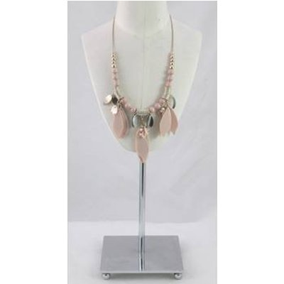 M&S Pink and gold beaded rhinestone necklace