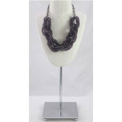 M&S purple beaded link necklace