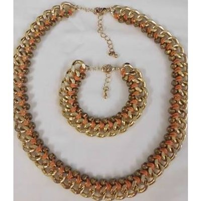 Necklace and Bracelet Set Unbranded - Size: Large - Orange - Necklace