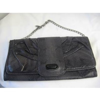 Monsoon Grey Faux Snakeskin Handbag
