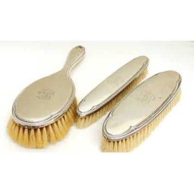 Vintage - Elldee - Alpaca Silver - Brush Set