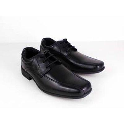 M&S School Leather School Shoes Black Size: 3