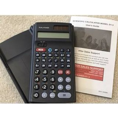Scientific Calculator Model D1-3 Over 60 Functions With Box & Instructions