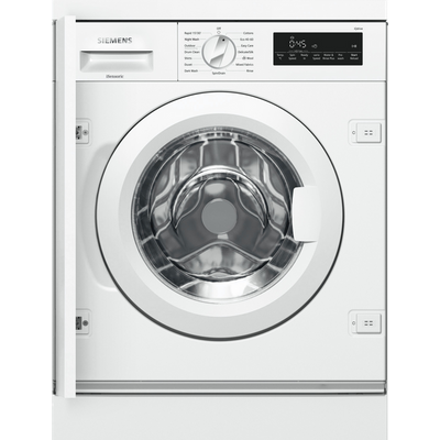 Siemens IQ-700 WI14W501GB Integrated 8Kg Washing Machine with 1400 rpm - White - C Rated