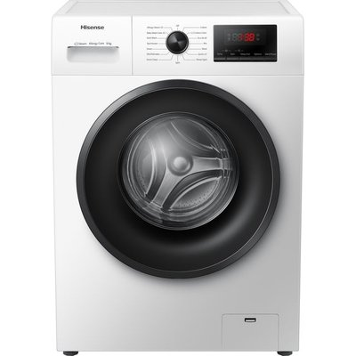 Hisense WFPV9014EM 9Kg Washing Machine with 1400 rpm - White - A+++ Rated
