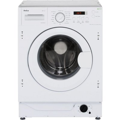 Amica AWT714S Integrated 7Kg Washing Machine with 1400 rpm - White - B Rated