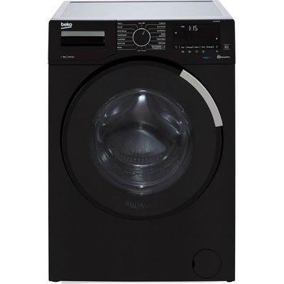 Beko WEY94P64EB 9Kg Washing Machine with 1400 rpm - Black - A Rated