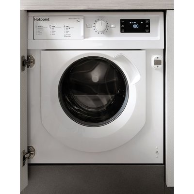 Hotpoint BIWMHG71483UKN Integrated 7Kg Washing Machine with 1400 rpm - White - A+++ Rated