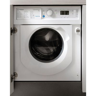 Indesit BIWMIL71252UKN Integrated 7Kg Washing Machine with 1200 rpm - White - A+++ Rated