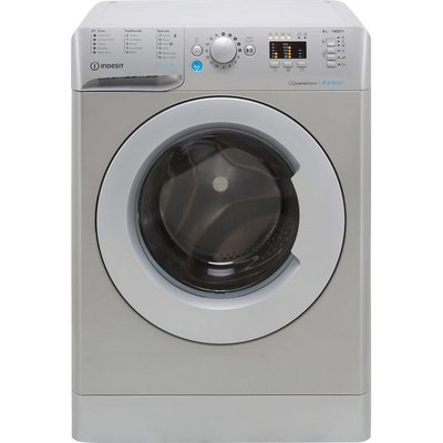 Indesit BWA81483XSUKN 8Kg Washing Machine with 1400 rpm - Silver - D Rated