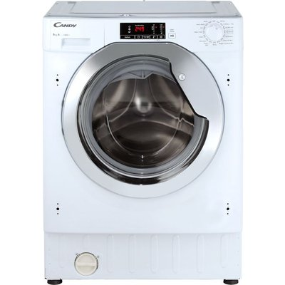 Candy CBWM814DC Integrated 8Kg Washing Machine with 1400 rpm - White / Chrome - A+++ Rated