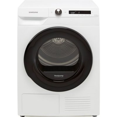 """Samsung Series 5+ OptimalDryâ""""¢ DV80T5220AW Wifi Connected 8Kg Heat Pump Tumble Dryer - White - A+++ Rated"""