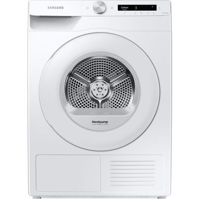 Samsung DV5000T DV80T5220TW Wifi Connected 8Kg Heat Pump Tumble Dryer - White - A+++ Rated
