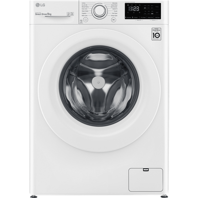 LG V3 F4V309WNW 9Kg Washing Machine with 1400 rpm - White - A+++ Rated