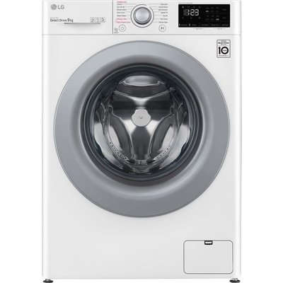 LG V3 F4V309WSE 9Kg Washing Machine with 1400 rpm - White - A+++ Rated