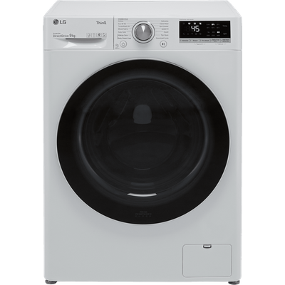 LG V7 F4V709WTSE Wifi Connected 9Kg Washing Machine with 1400 rpm - White - B Rated