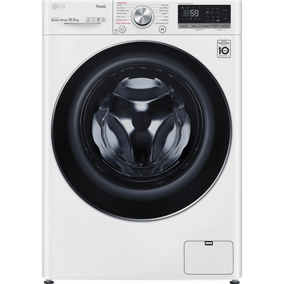 LG V7 F4V710WTSE Wifi Connected 10.5Kg Washing Machine with 1400 rpm - White - A+++ Rated