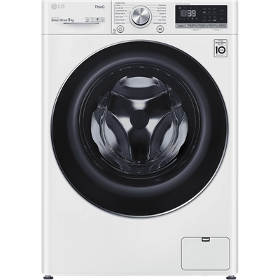 LG V9 F4V909WTSE Wifi Connected 9Kg Washing Machine with 1400 rpm - White - A+++ Rated