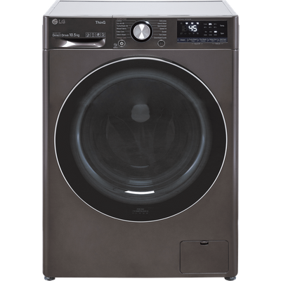 LG V9 F4V910BTSE Wifi Connected 10.5Kg Washing Machine with 1400 rpm - Steel Black - A Rated