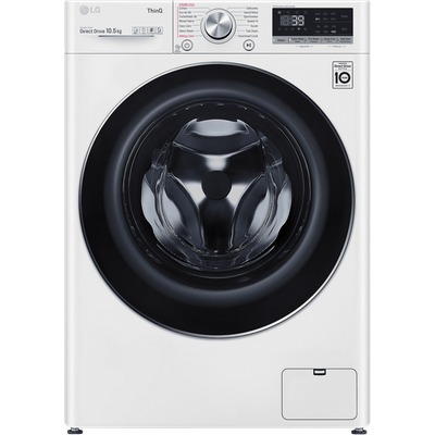 LG V9 F4V910WTSE Wifi Connected 10.5Kg Washing Machine with 1400 rpm - White - A+++ Rated