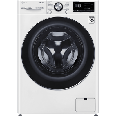 LG V10 F6V1010WTSE Wifi Connected 10.5Kg Washing Machine with 1600 rpm - White - A+++ Rated