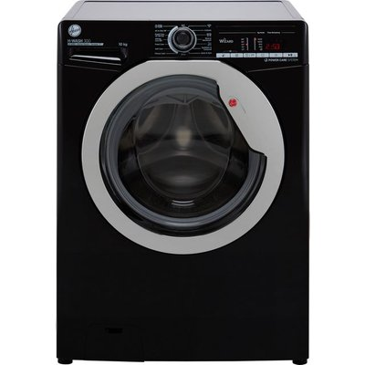 Hoover H-WASH 300 H3WS4105TACBE Wifi Connected 10Kg Washing Machine with 1400 rpm - Black - C Rated