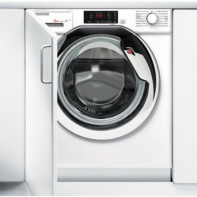 Hoover H-WASH 300 HBWM914DC Integrated 9Kg Washing Machine with 1400 rpm - White / Chrome - A+++ Rated