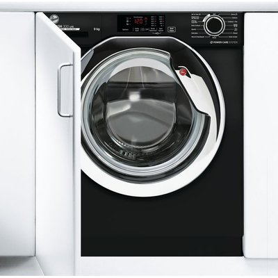 Hoover H-WASH 300 LITE HBWS49D3ACBE Integrated 9Kg Washing Machine with 1400 rpm - Black - A+++ Rated