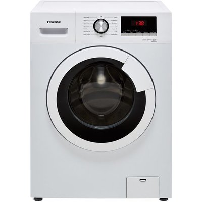 Hisense WFHV9014 9Kg Washing Machine with 1400 rpm - White - A+++ Rated
