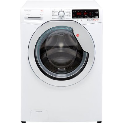 Hoover Dynamic Next DWOA411AHC8/1 Wifi Connected 11Kg Washing Machine with 1400 rpm - White / Chrome - A+++ Rated