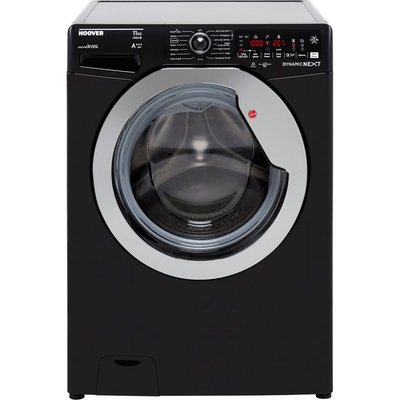 Hoover Dynamic Next DWOA411AHC8B Wifi Connected 11Kg Washing Machine with 1400 rpm - Black / Chrome - A+++ Rated