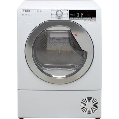 Hoover Dynamic Next DXOH9A2TCE Wifi Connected 9Kg Heat Pump Tumble Dryer - White - A++ Rated